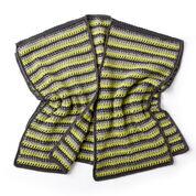Caron Textured Stripes Crochet Ruana