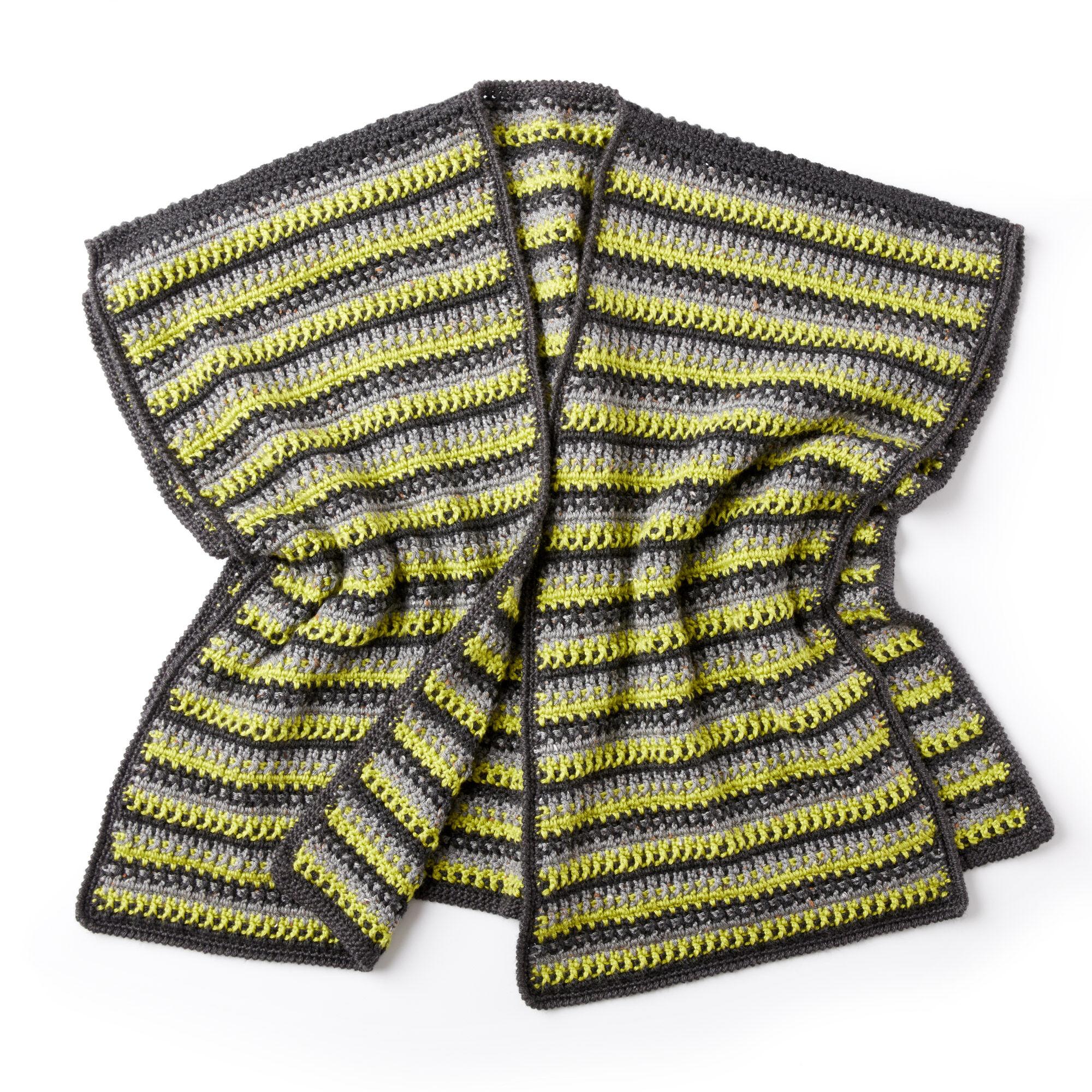 Caron Textured Stripes Crochet Ruana Pattern   Yarnspirations