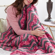 Red Heart Playful Ripples Throw