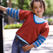 Red Heart Kid's Knit V-Neck Sweater, 2 yrs