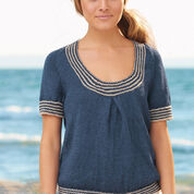 Patons Nautical Tee, Blue - XS/S