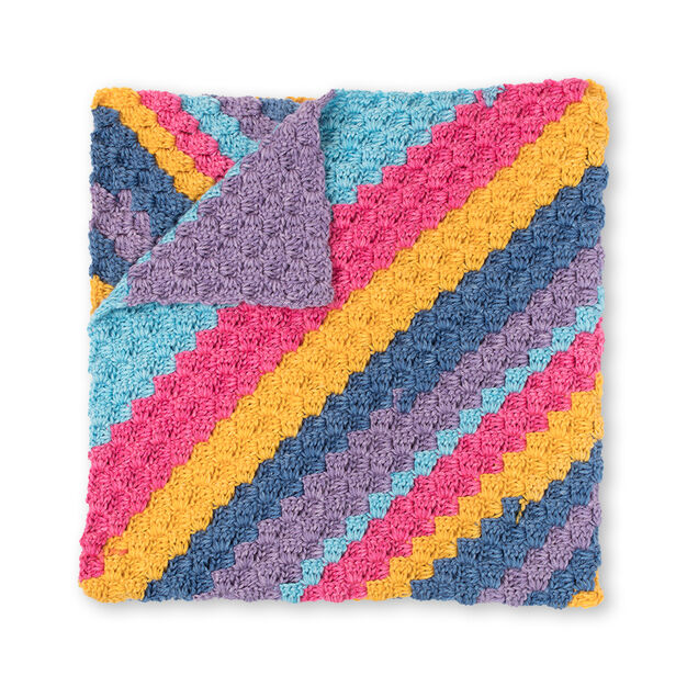 Bernat Diagonal Stripes Crochet Blanket Yarnspirations