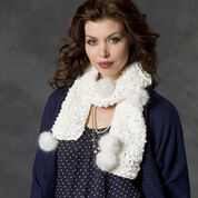 Go to Product: Red Heart Knits, Purls & Pompoms Scarf in color