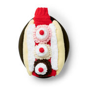 Bernat That's Bananas! Crochet Dog Coat, S