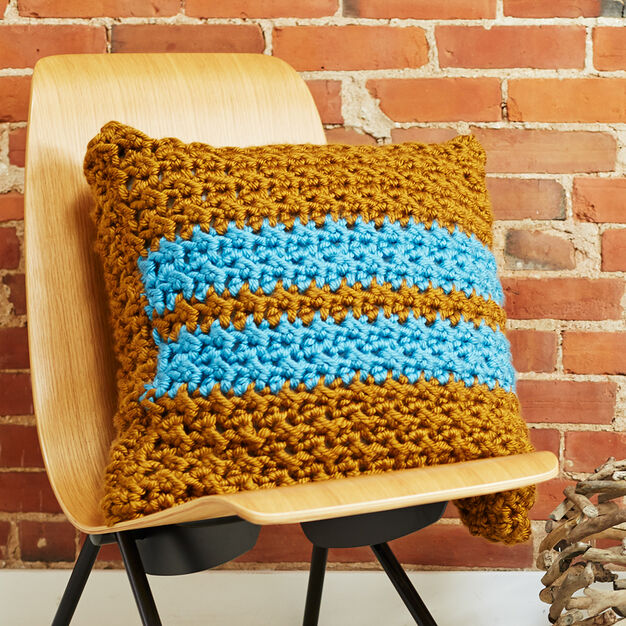 Bernat Simple Stripes Pillow in color