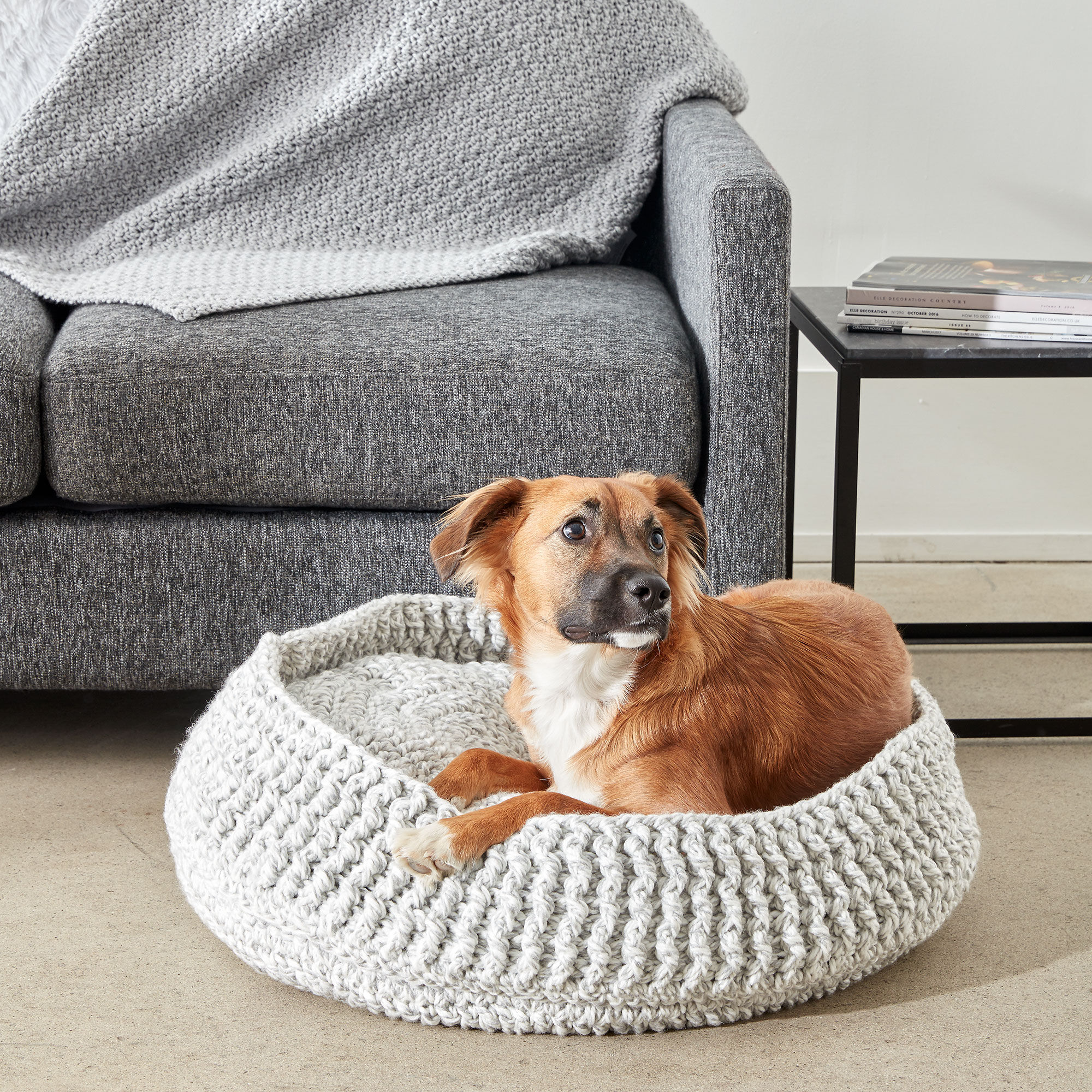 Bernat Crochet Pet Bed, Small | Yarnspirations