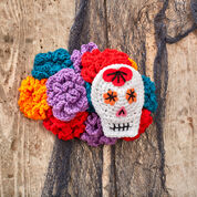 Red Heart Sugar Skull Woman's Headpiece