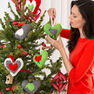 Red Heart Holiday Heart Ornaments in color  Thumbnail Main Image 1}
