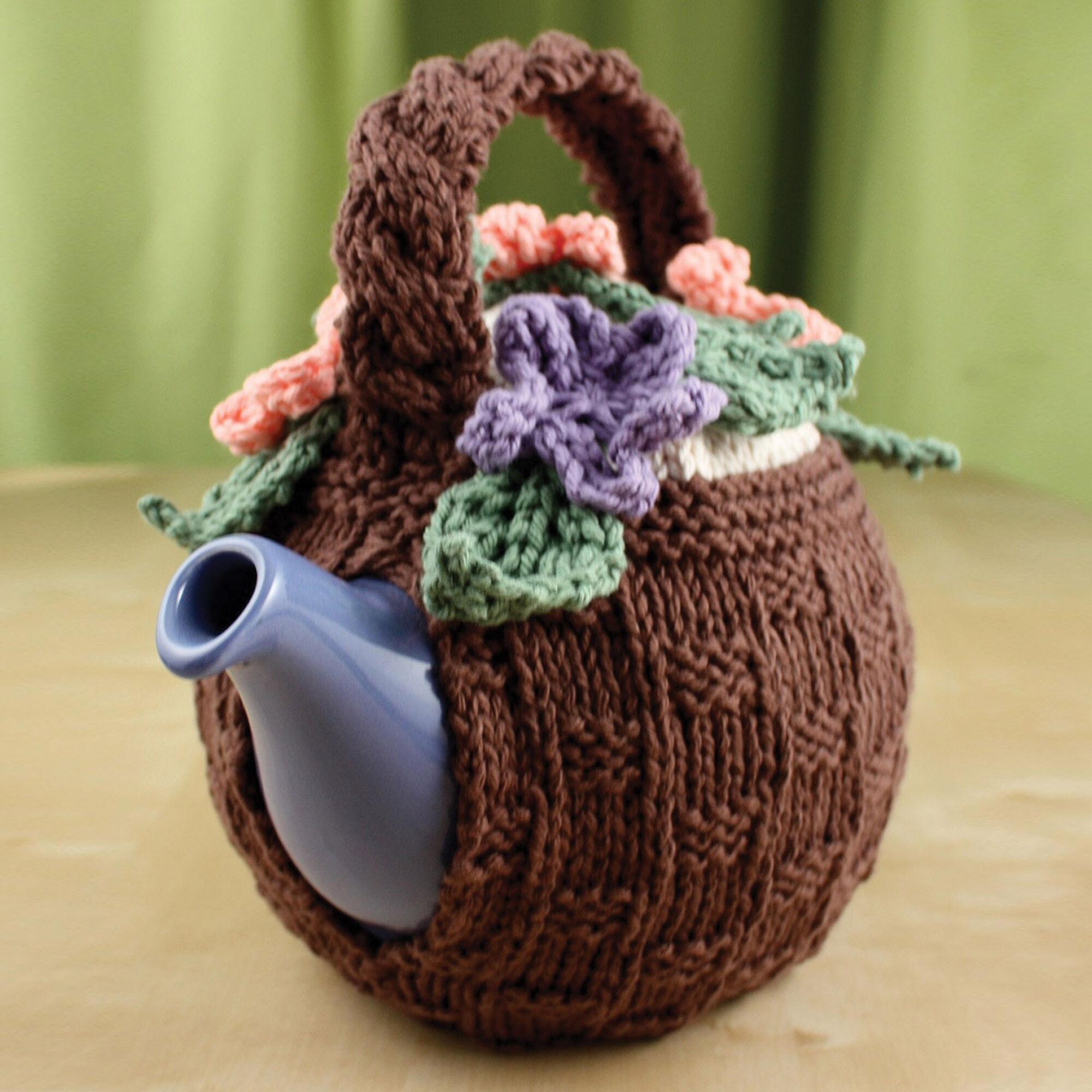 Lily Sugar\'n Cream Flower Basket Tea Cozy   Yarnspirations