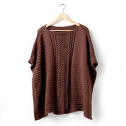 Caron Lace Panel Knit Poncho