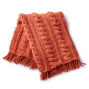 Bernat Crochet Cables Afghan, Pumpkin Spice