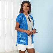 Go to Product: Red Heart Resort Wear Crochet Cardi, XS in color
