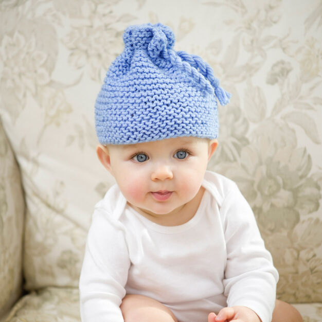 Red Heart Garter Stitch Baby Hat in color