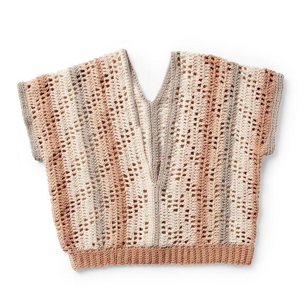 Caron Summer Breeze Crochet Top Xssm Pattern Yarnspirations
