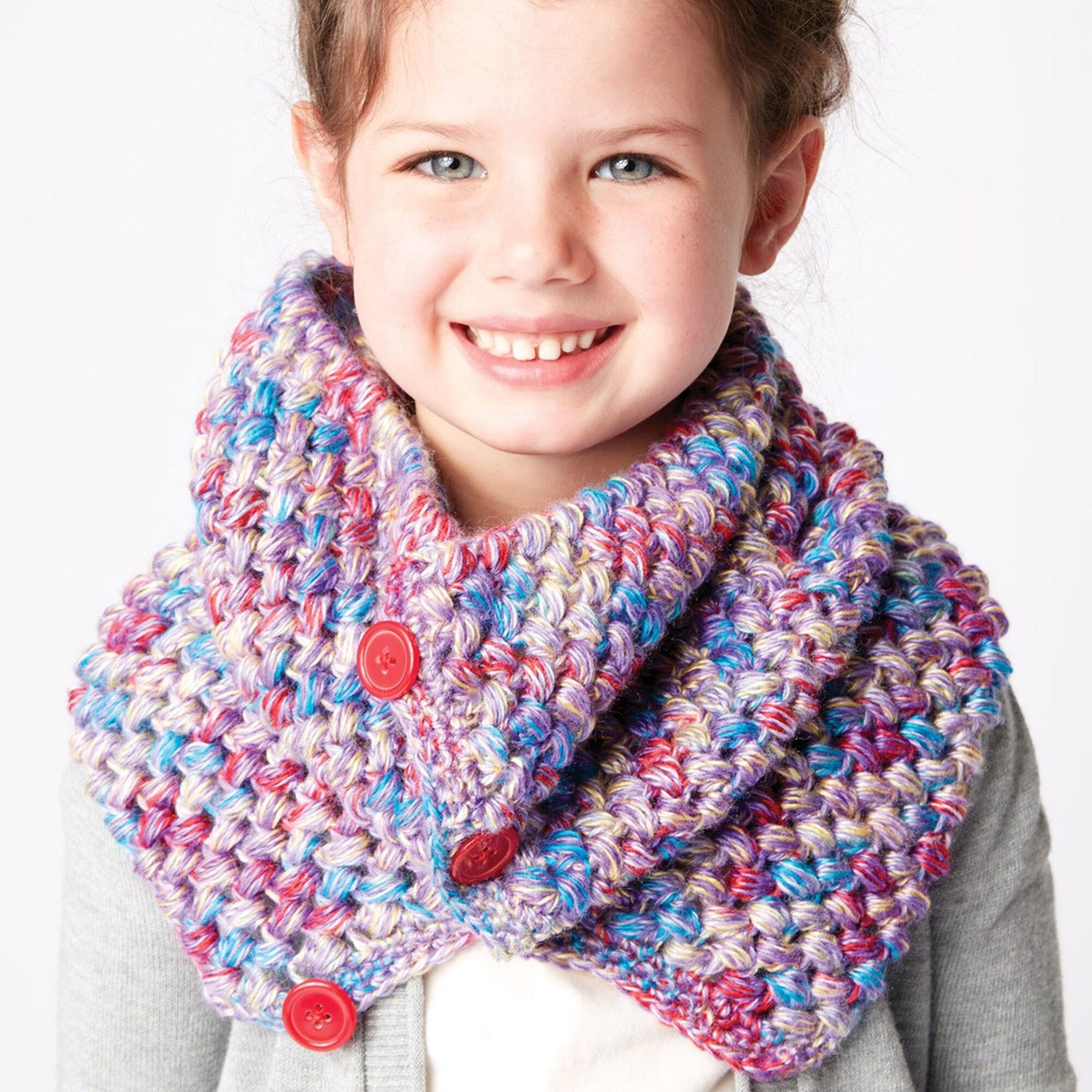 Bernat Crochet Kid Cowl | Yarnspirations