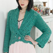 Red Heart Filigree Cardigan, S
