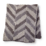 Bernat Chevron Panels Crochet Blanket