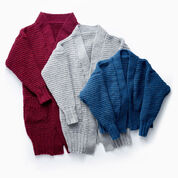 Patons Long Weekend Knit Cardigan, Long (LO) - XS/S