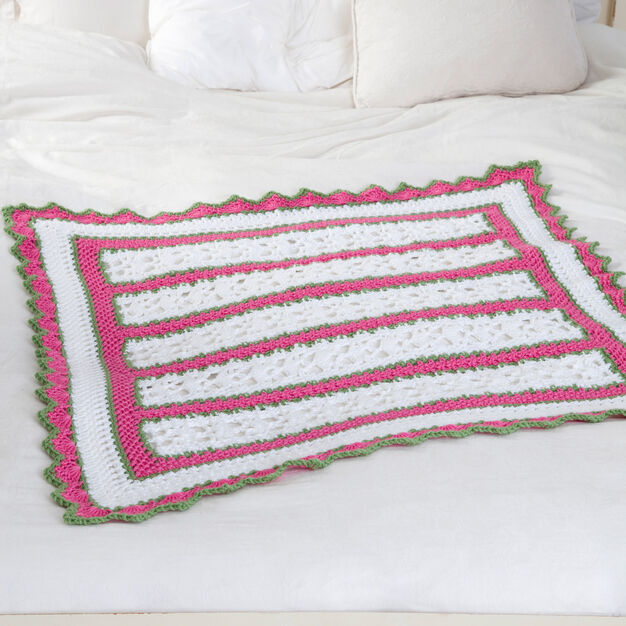 Red Heart Summer Baby Blanket in color