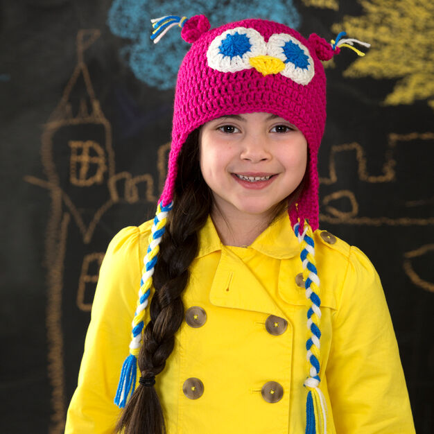 Red Heart Hootin' Owl Hat in color