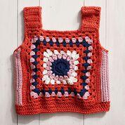 Go to Product: Stitch Club Retro Granny Crochet Top, S + Tutorial in color