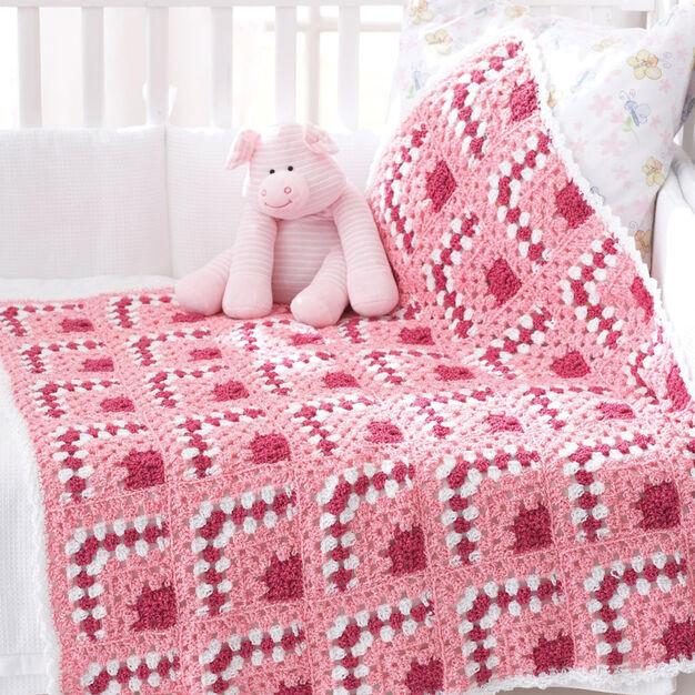 Bernat Puzzle Blocks Baby Blanket in color