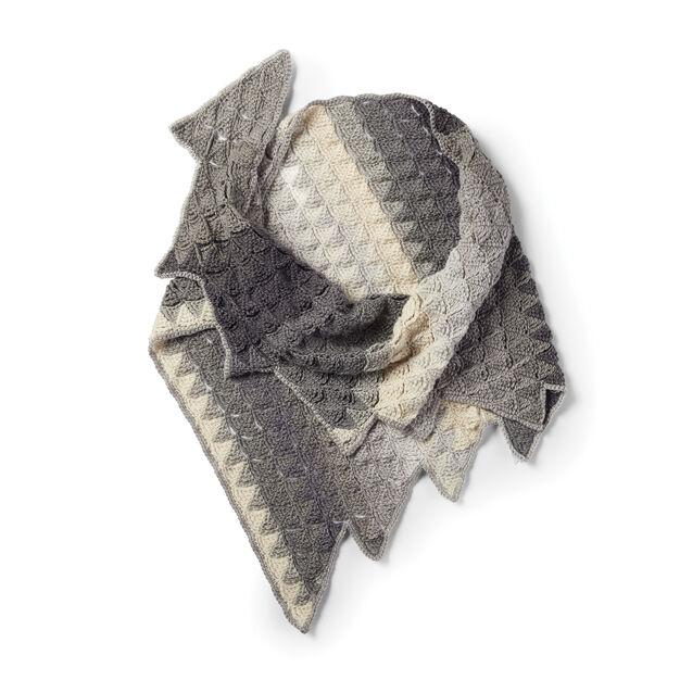Caron Crochet Sawtooth Shawl in color