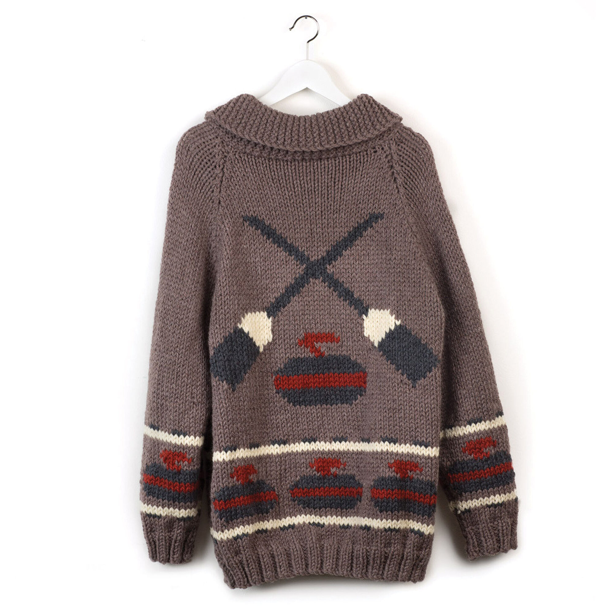 Patons Knit Curling Sweater, His - XS/S | Yarnspirations