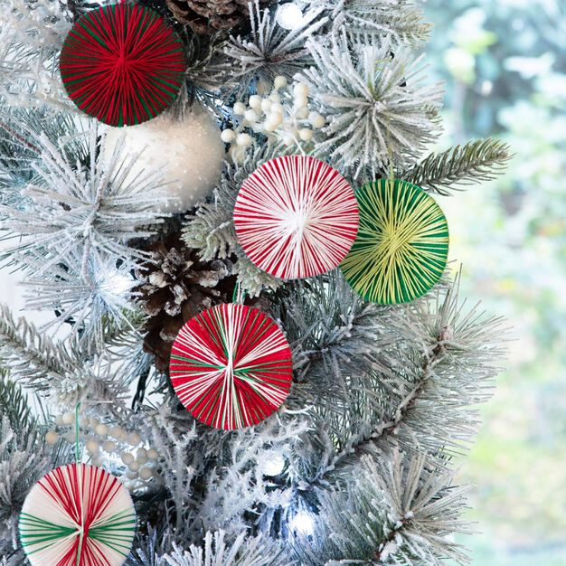 Aunt Lydia's Christmas Disc Ornaments in color