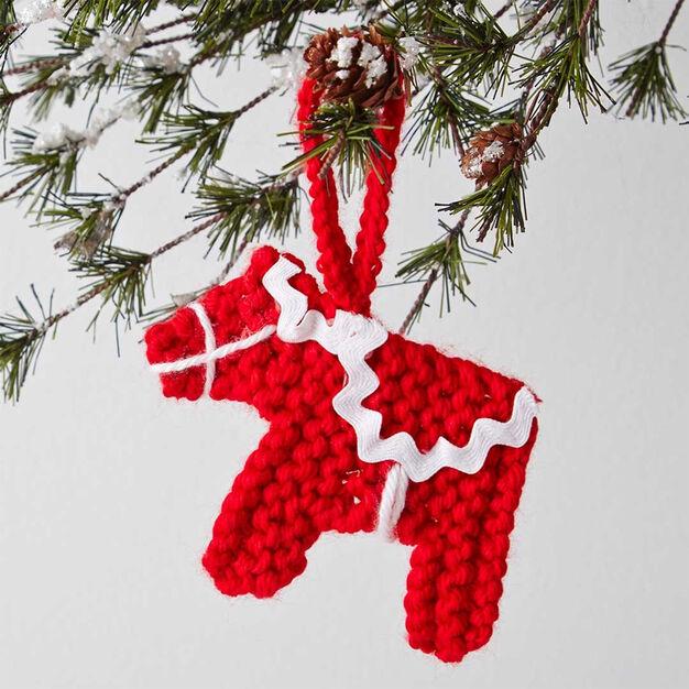 Caron Dala Horse Ornament in color