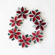 Go to Product: Dual Duty Quilted Poinsettia Garland in color