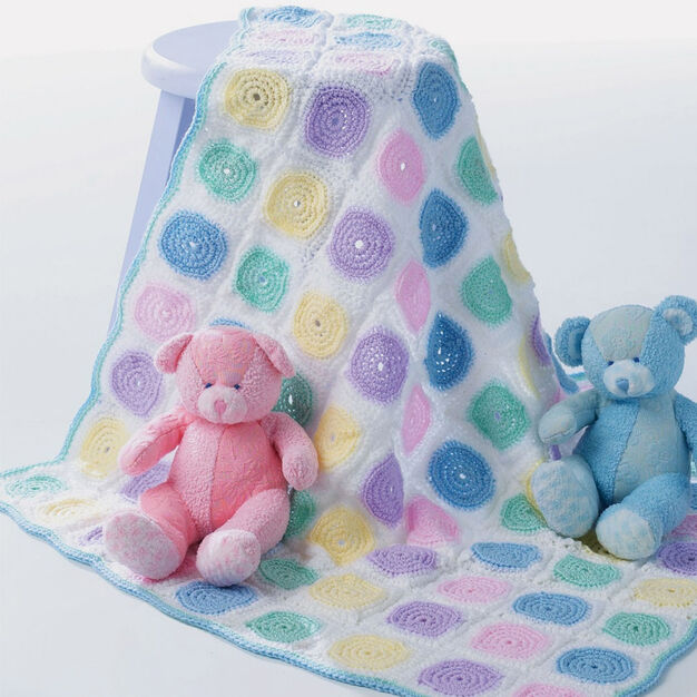Patons Baby Blanket in color
