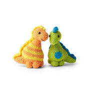 Go to Product: Red Heart Stellan and Stanley Crochet Dinosaur in color
