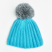 Go to Product: Red Heart Easy-Fit Ribbed Pompom Hat, S in color