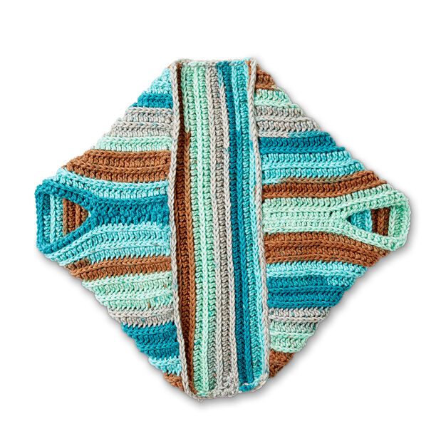 Caron Crochet Blanket Cardigan
