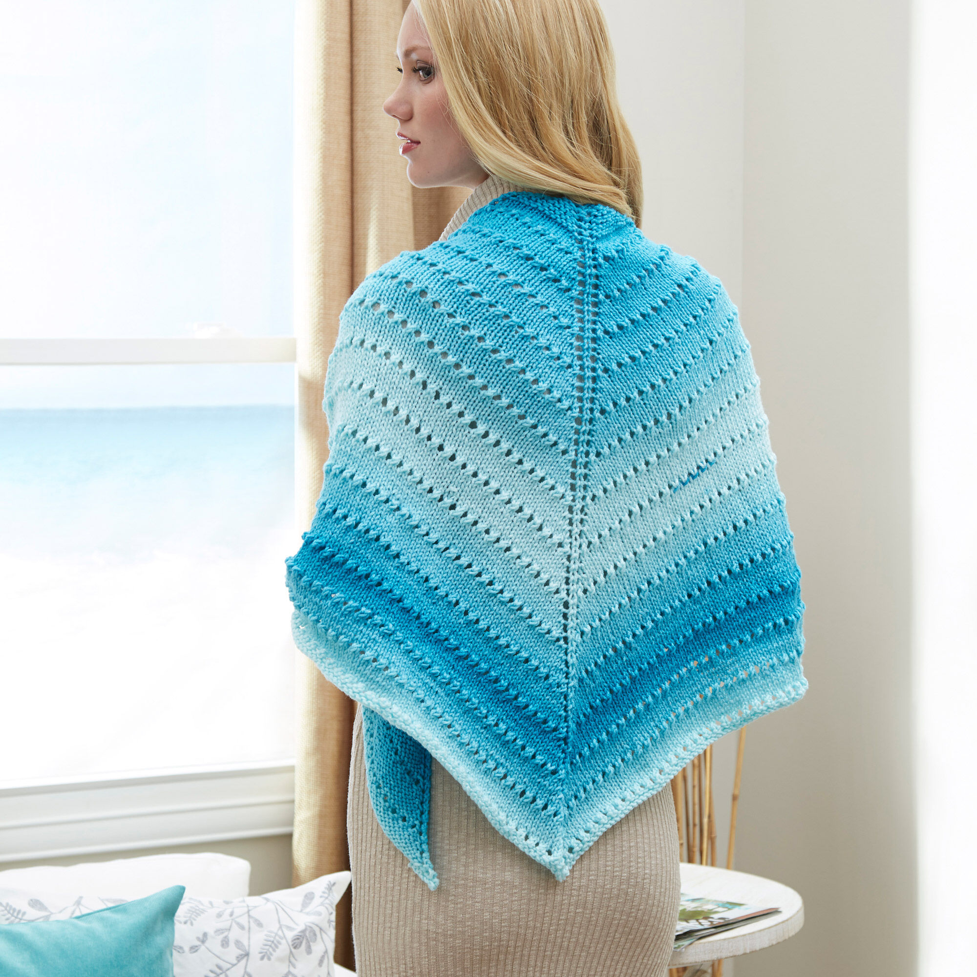 PRINTED KNITTING INSTRUCTIONS-BABY EASY LACE SHAWL EASY KNITTING PATTERN