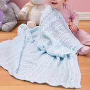 Red Heart Heavenly Baby Blanket