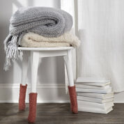 Red Heart Stool Leg Cozies