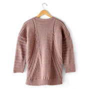 Patons Directional Cables Sweater, XS/M