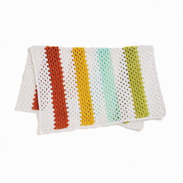 Caron Cheery Crochet Granny Stripes Baby Blanket in color