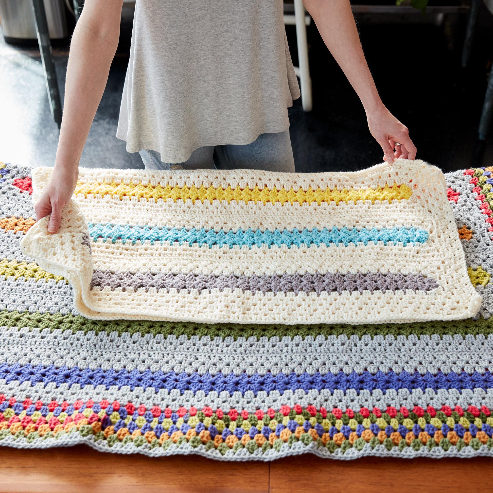 Bernat Pop A Minute Crochet Baby Blanket Pattern