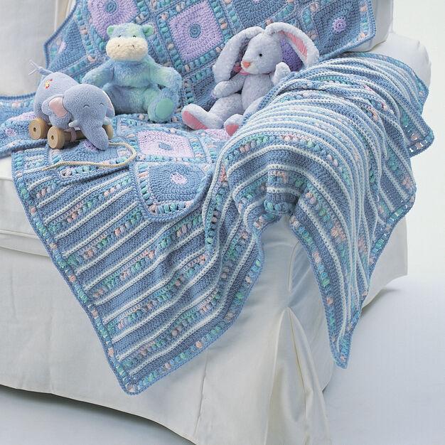 Bernat Soft Stripes Blanket