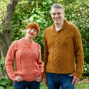 Go to Product: Patons Corktown Knit His and Hers Pullover, Coral Peach - XS/S in color