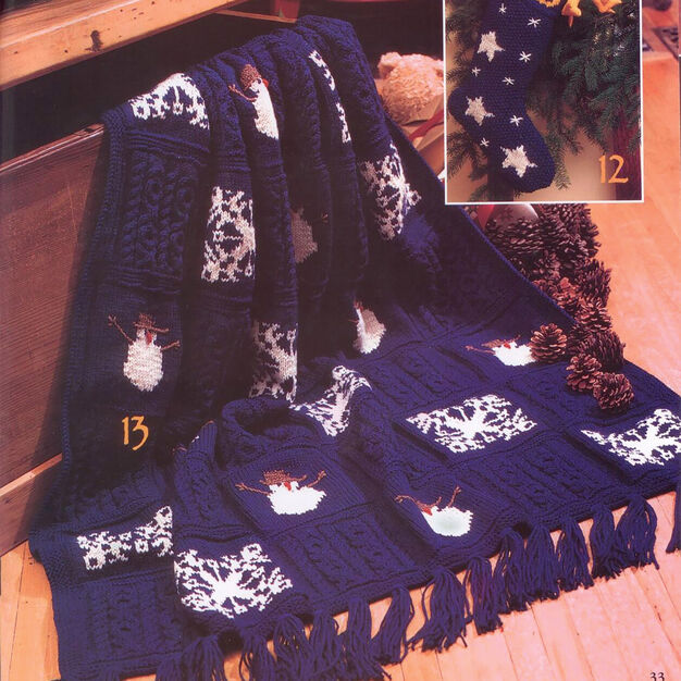 Patons KW - Christmas Eve Knit Afghan in color