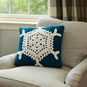 Red Heart Snowflake Pillow
