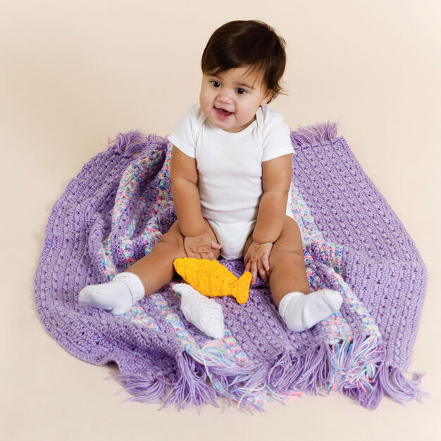 Red Heart Crochet Baby Playtime Blanket in color