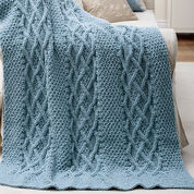 Patons Cushy Cables Afghan
