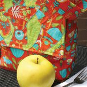 Dual Duty Crazy Quilted Lunch Bag