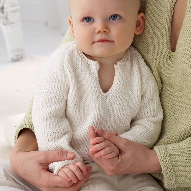Bernat Baby's Pullover, 3 mos in color