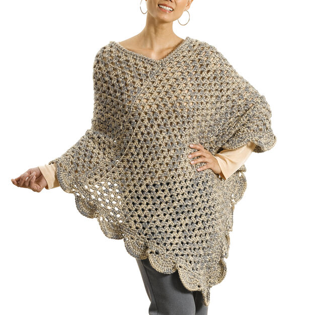 "Caron ""The Gift"" Poncho, XS/S in color"